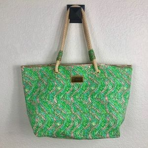Lilly Pulitzer Shoreline tote- Later alligator